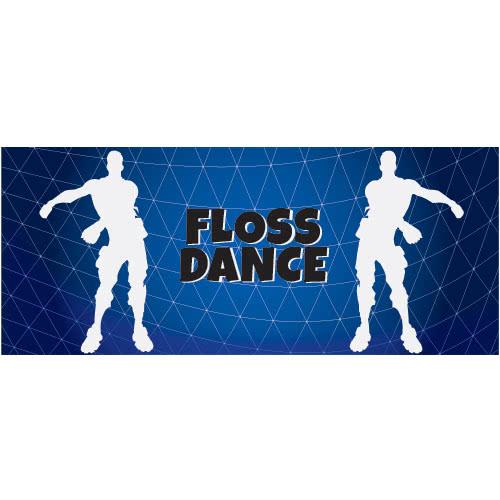 Floss Dance Silhouette PVC Party Sign Decoration 60cm x 25cm Product Image