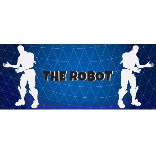 Robot Dance Silhouette PVC Party Sign Decoration 60cm x 25cm Product Image