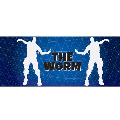 The Worm Dance Silhouette PVC Party Sign Decoration 60cm x 25cm Product Image