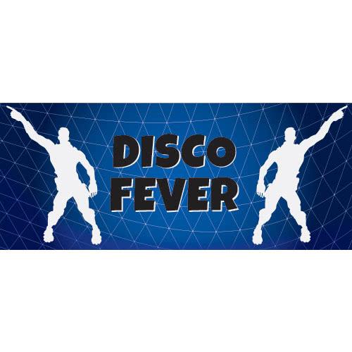 Disco Fever Dance Silhouette PVC Party Sign Decoration 60cm x 25cm Product Image