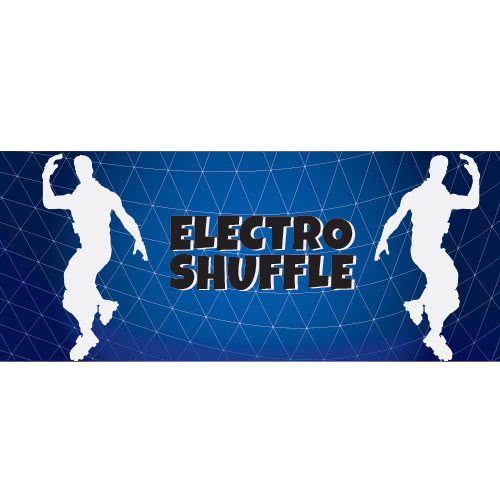 Electro Shuffle Silhouette PVC Party Sign Decoration 60cm x 25cm Product Image