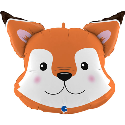 Fox Head Helium Foil Giant Balloon 76cm / 30 in Product Image