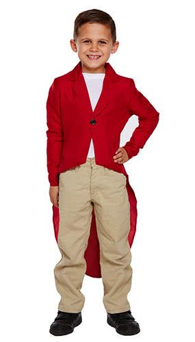 Fox Jacket Children Fancy Dress Costume 7-9 Years - Medium Product Image