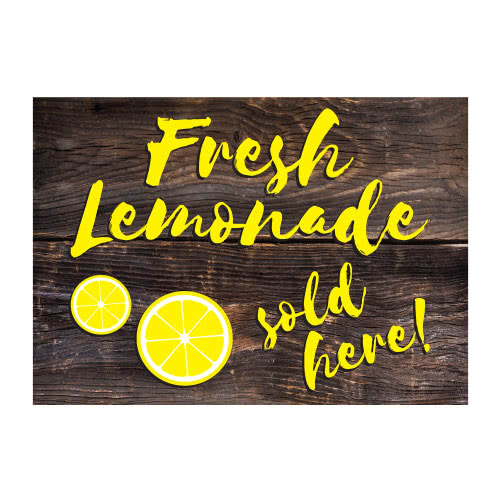 Fresh Lemonade PVC Party Sign Decoration 25cm x 18cm Product Image