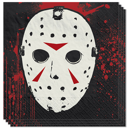Friday the 13th Halloween Beverage Napkins 2Ply 25cm - Pack of 16