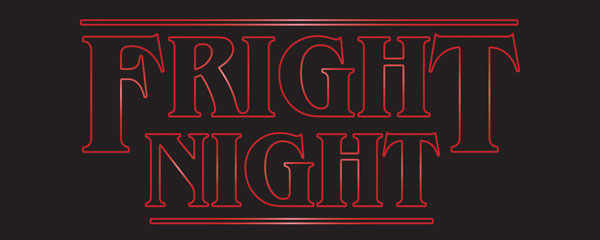 Fright Night Halloween Strange Thing PVC Party Sign Decoration 60cm x 25cm Product Image