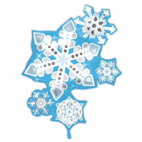 Frosty Snowflake Cluster Helium Foil Giant Balloon 66cm / 26 in Product Image