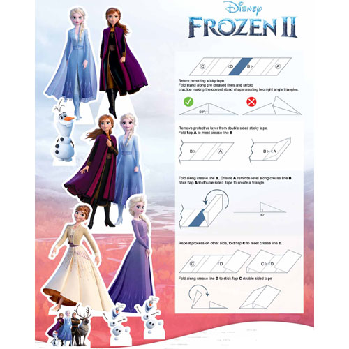 Frozen 2 Table Top Cutout Decorations - Pack of 9 Product Gallery Image