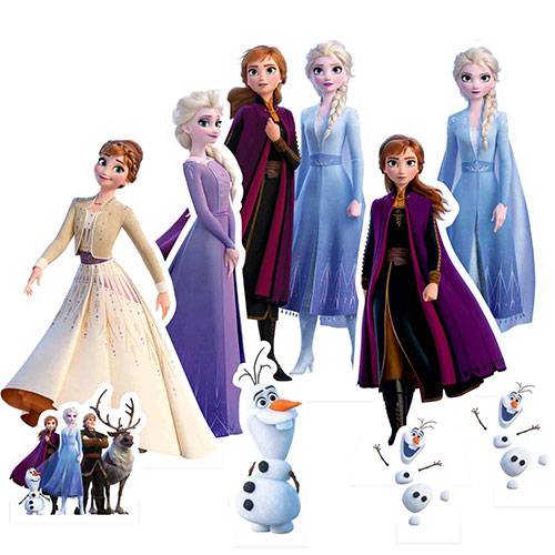 Frozen 2 Table Top Cutout Decorations - Pack of 9