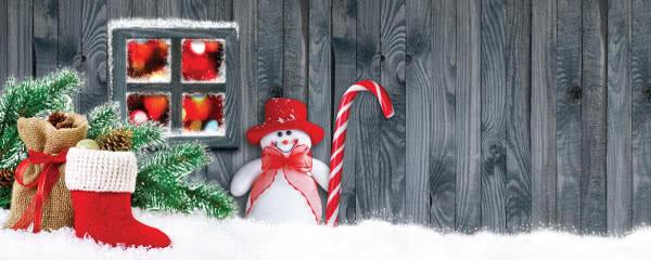 Frozen Christmas Design Medium Personalised Banner - 6ft x 2.25ft