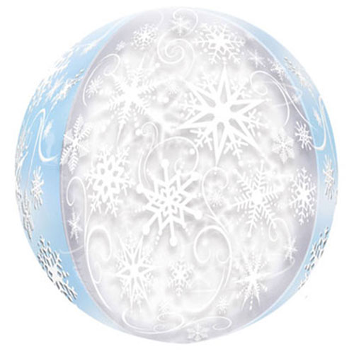 Christmas Frozen Snowflakes Orbz Foil Helium Balloon 38cm / 15 in Product Image