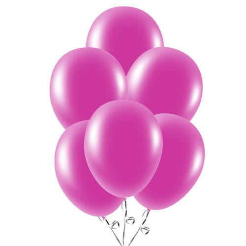 Fuchsia Latex Balloons 23cm / 9Inch - Pack of 30 Product Image