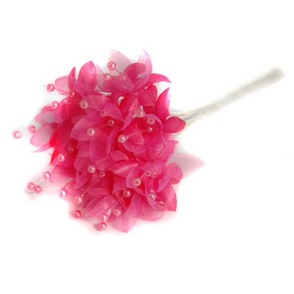 Fuchsia Pearled Baby's Breath Fabric Flowers - Bunch of 12 Product Image