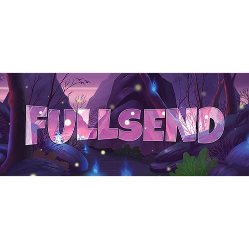 Full Send Forest Background PVC Party Sign Decoration 60cm x 25cm Product Image