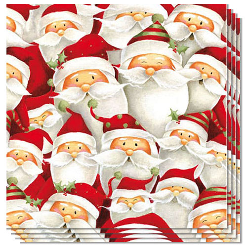 Funny Santa Luncheon Napkins 3Ply 33cm - Pack of 50