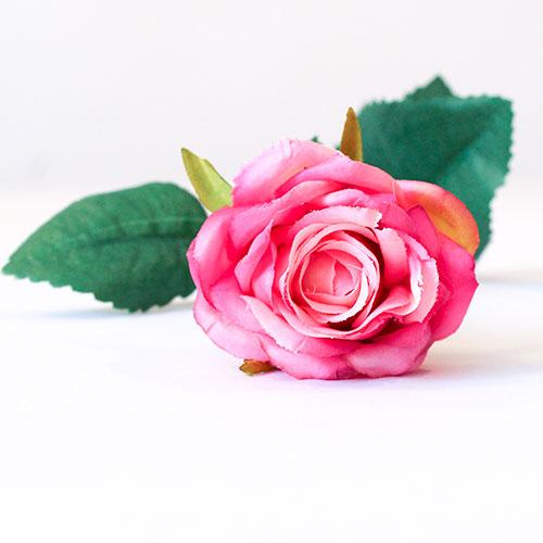 Fuschia Diamond Rose Artificial Silk Flower 40cm Product Gallery Image