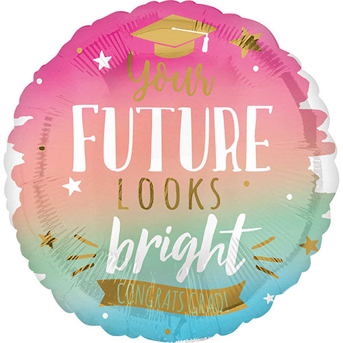 Future Looks Bright Graduation Helium Foil Giant Balloon 71cm / 28 in Product Image