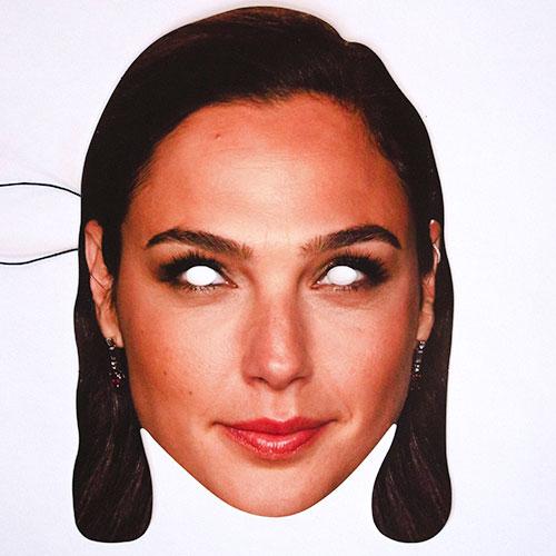 Gal Gadot Cardboard Face Mask