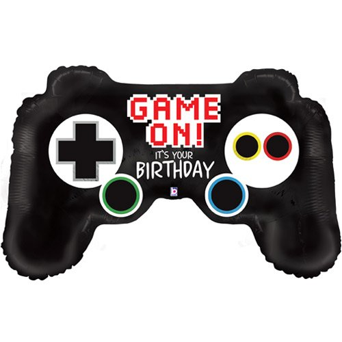 Game Controller Birthday Helium Foil Giant Balloon 91cm / 36 in Product Image