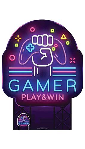 Gamer Sign Lifesize Cardboard Cutout 135cm Product Image