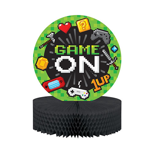 Gaming Party Honeycomb Table Centrepiece Decoration 30cm