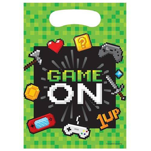 Gaming Party Loot Bags - Pack of 8 Product Image