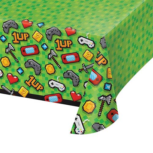 Gaming Party Plastic Tablecover 259cm x 137cm Bundle Product Image