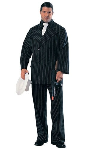 Gangster in Pinstripe Suit Lifesize Cardboard Cutout - 182cm Product Image