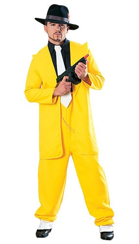 Gangster in Yellow Suit Lifesize Cardboard Cutout - 180cm Product Image