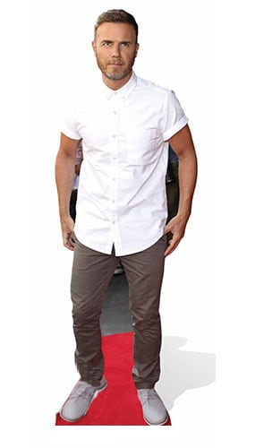 Gary Barlow White Lifesize Cardboard Cutout - 175cm Product Image