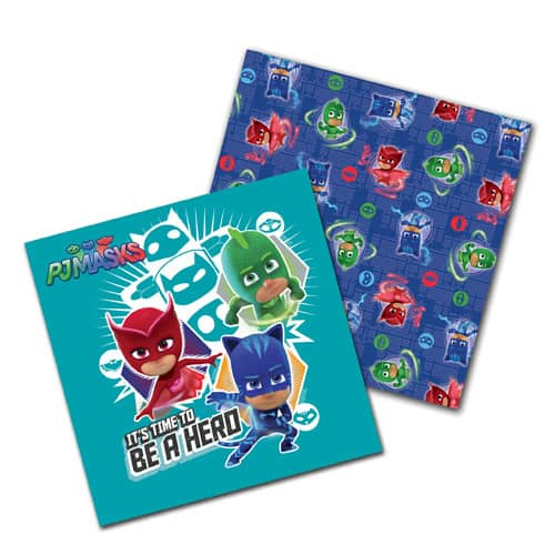 PJ Masks Luncheon Napkins 33cm 2Ply - Pack of 16