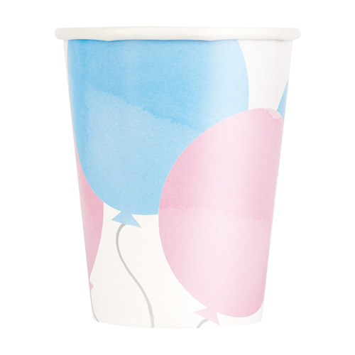 Gender Reveal Party Paper Cups 270ml - Pack of 8 Product Image