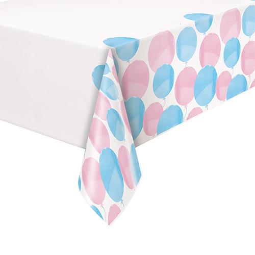 Gender Reveal Party Plastic Tablecover 213cm x 137cm