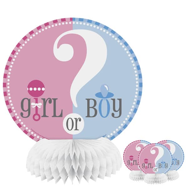 Gender Reveal Theme Honeycomb Decorations – 6 Inches / 15.5cm – Pack of 4
