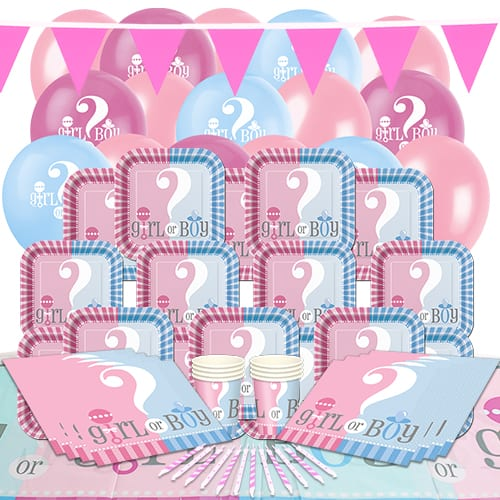 Gender Reveal Theme 16 Person Delux Party Pack