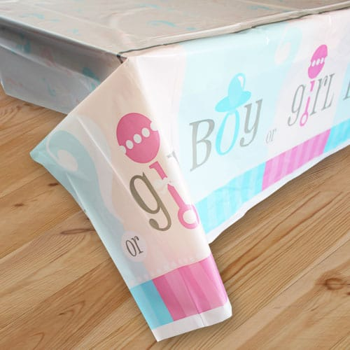 Gender Reveal Theme Plastic Tablecover 213cm x 137cm