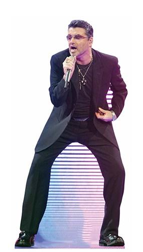 George Michael Singing Lifesize Cardboard Cutout 172cm Product Image