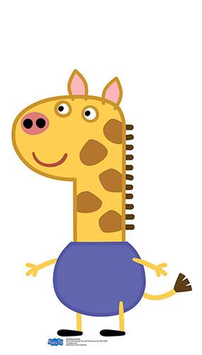 Gerald Giraffe Peppa Pig Star Mini Cardboard Cutout 90cm Product Image