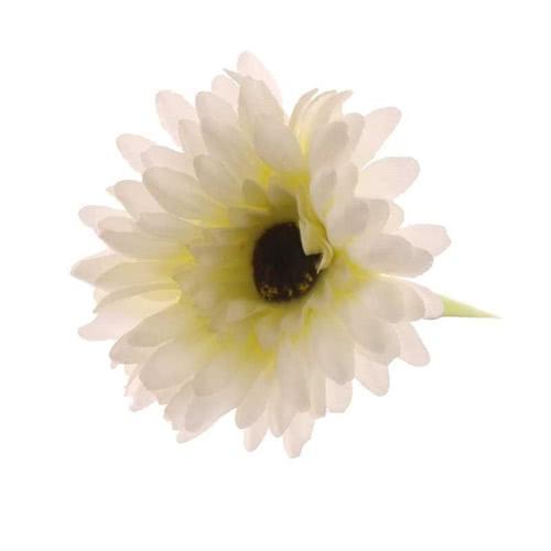 Gerbera Cream Artificial Silk Flower 54cm