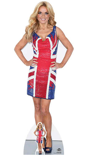 Geri Halliwell Union Jack Dress Lifesize Cardboard Cutout 157cm Product Image