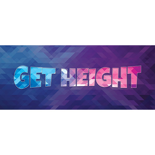 Get Height Home Screen Background PVC Party Sign Decoration 60cm x 25cm Product Image