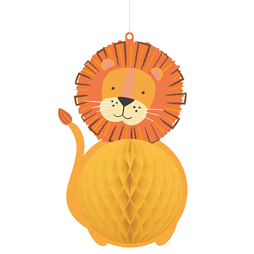 Get Wild Jungle Honeycomb Hanging Decoration 29cm