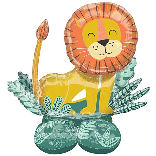 Get Wild Lion Airloonz Air Fill Giant Foil Balloon 114cm / 45 in Product Image