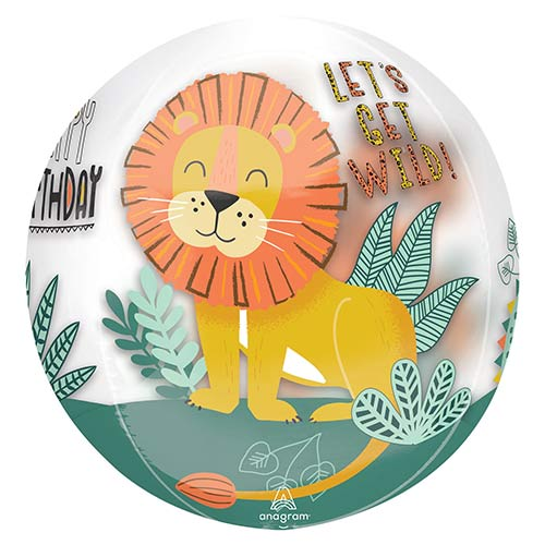 Get Wild Orbz Foil Helium Balloon 38cm / 15 in Product Image