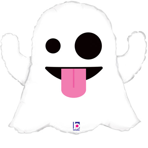 Ghost Emoji Halloween Helium Foil Giant Balloon 71cm / 28 in Product Image