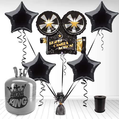 Giant Hollywood Camera Supershape Foil Balloon and Helium Gas Package Product Image