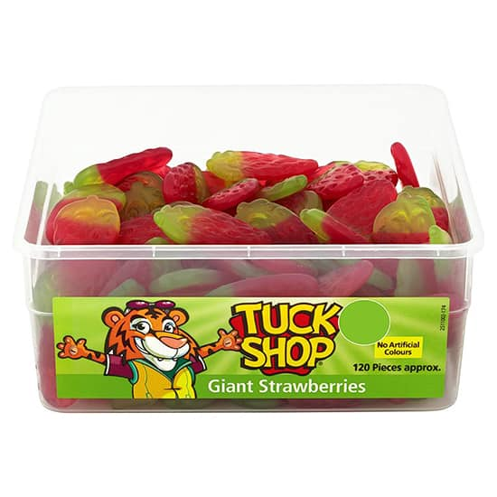 Giant Strawberries Jelly Vegetarian Sweets - Pack of 120 Product Image
