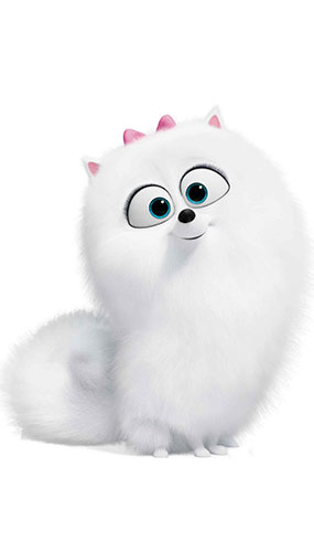 Gidget Fluffy White Dog Secret Life of Pets Star Mini Cardboard Cutout 78cm Product Image