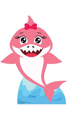 Girl Baby Shark Star Mini Cardboard Cutout 93cm Product Image
