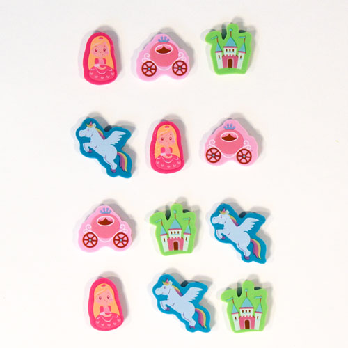 Girlie Novelty Erasers - Pack of 12